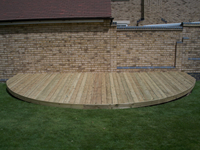 Shaped Decking Platform Area - Fairfield, Stotfold