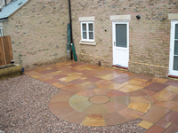 Patio for a Compact Back Garden - Fairfield, Stotfold