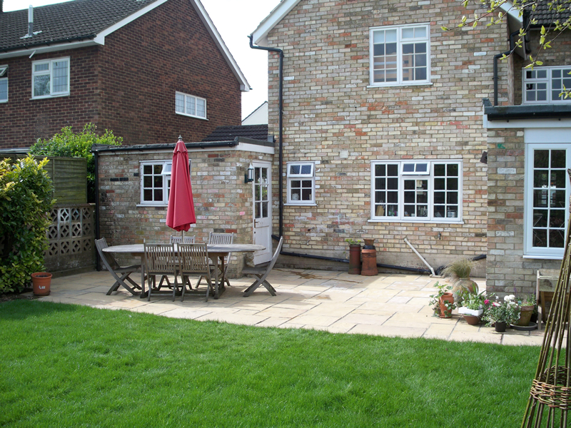 Back Garden Patio   Baldock
